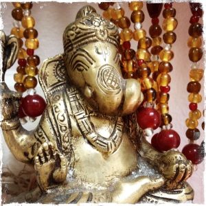 Ganesha – Remover of Obstacles. He is the son of Parvati (and Uma is one of Parvati's names).